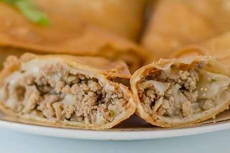 Meat Samosas (Beef and Chicken)